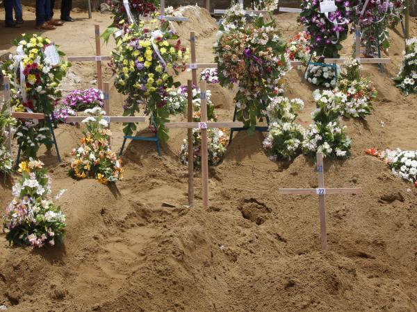 El último adiós a las víctimas del atentado en Sri Lanka