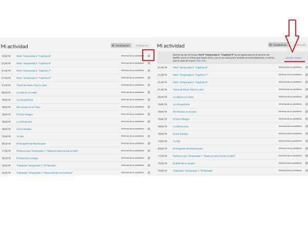 Ocultar contenido en el historial de Netflix 3