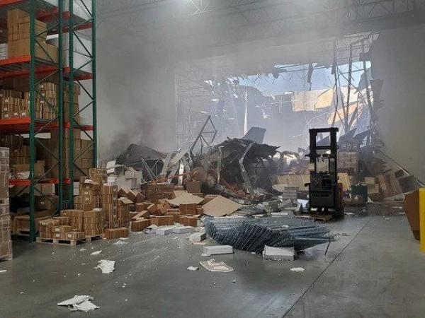 F16 colisionado en California