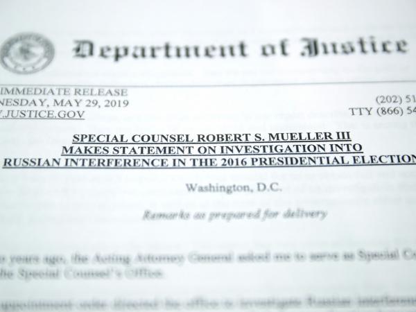 Copia del Informe especial de Mueller sobre las investigaciones