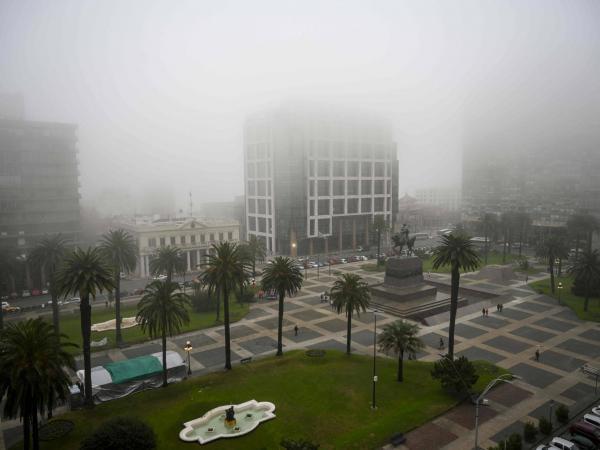 Ciclón extratropical en Uruguay