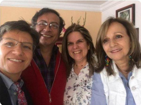 Claudia López y Gustavo Petro se reúnen para hablar del apoyo de la Colombia Humana a la candidatura de López