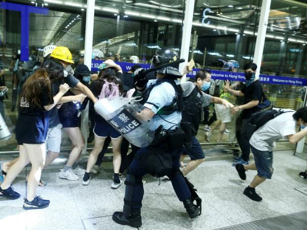 Represión en protestas en Hong Kong