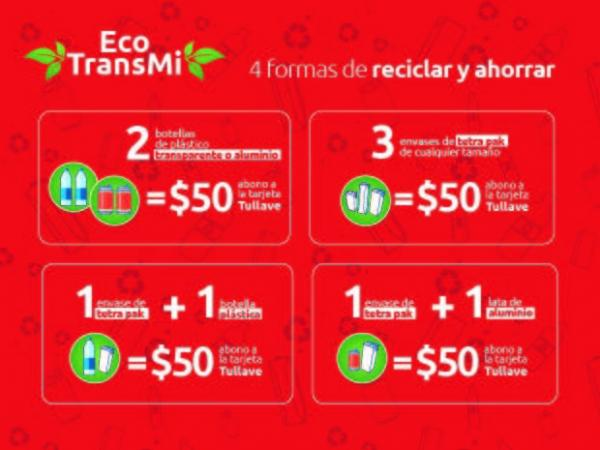 Pagar TransMilenio con botellas