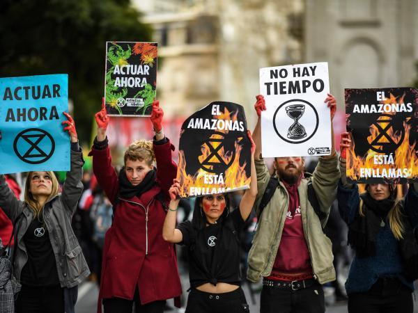 Protestas contra los incendios en el Amazonas