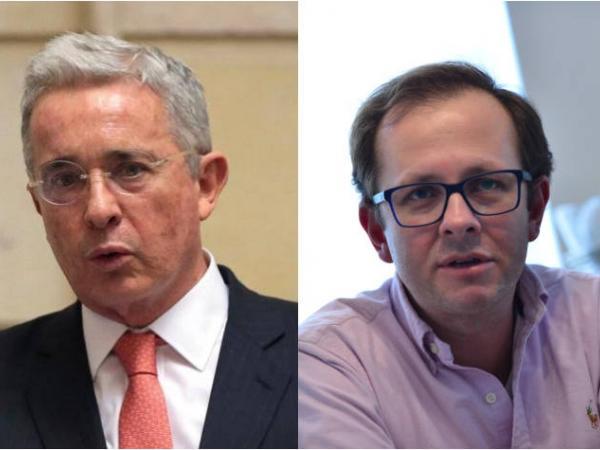 Álvaro Uribe Vélez y Andrés Felipe Arias