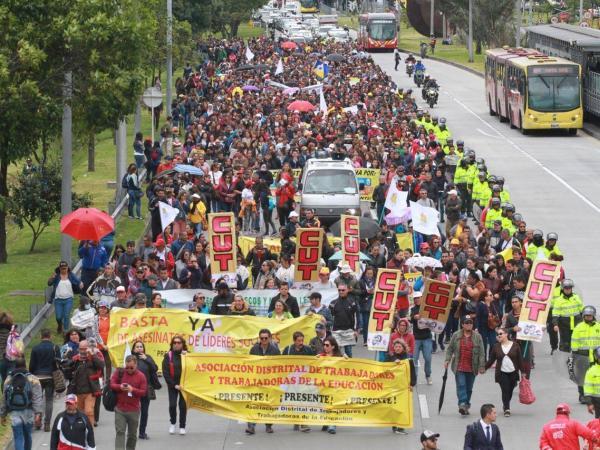 Marcha de Fecode en Bogotá