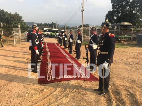 Recibimiento de Guaidó en la Frontera.