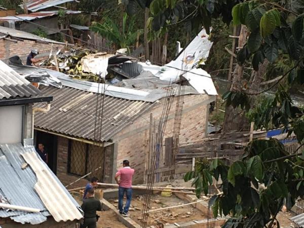 Este es el estado de la avioneta accidentada.