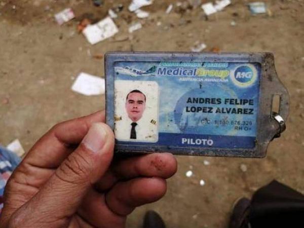 Avioneta accidentada en Popayán