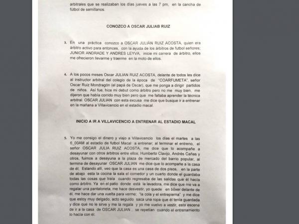 Denuncia contra Óscar Julián Ruiz