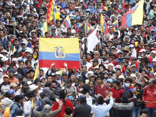 Marcha indígena en Ecuador