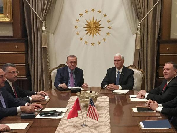 Pence y Erdogan