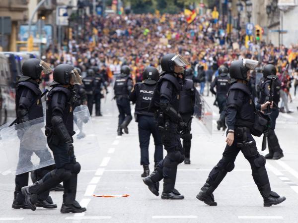 Marcha general independentista en Barcelona.