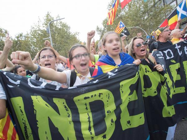 Mnaifestaciones en Cataluña