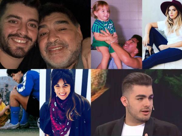 Ellos son los 10 hijos legítimos y no reconocidos de Maradona