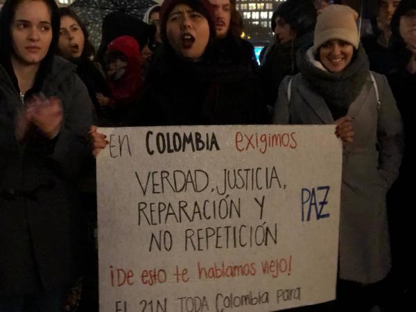 5dd6be5c1ac91 - Los colombianos que se unieron al paro nacional en el exterior
