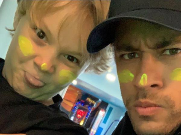 Neymar Jr y su hijo