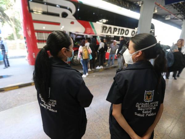 Comienzan los operativos en terminales de Bogotá para contrarrestar  Coronavirus - Bogotá - ELTIEMPO.COM