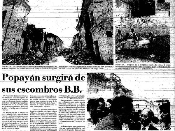 Terremoto en Popayán