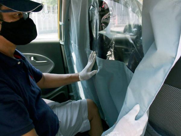 Cabinas de protección en taxis de Barranquilla
