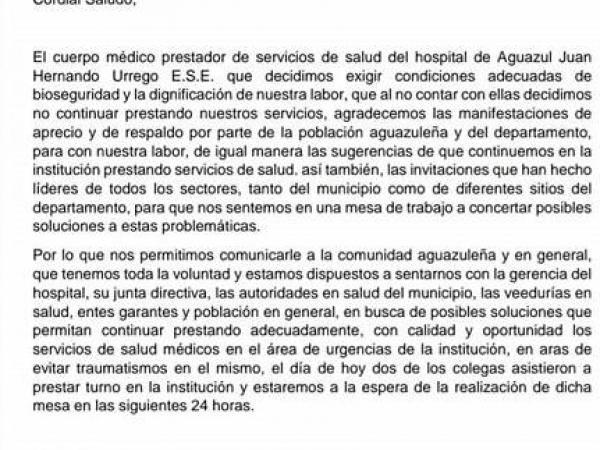 Médicos renuncian en Casanare