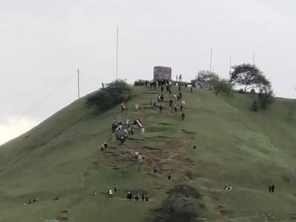 Este el cerro del Morro, donde estaba el monumento de Sebastián de Belalcázar.