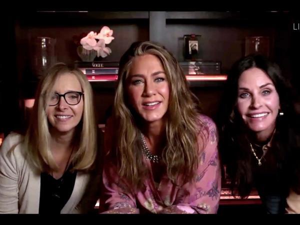 El reencuentro de friends en los Emmy