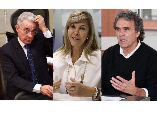 Álvaro Uribe, Dilian Francisca Toro y Sergio Fajardo