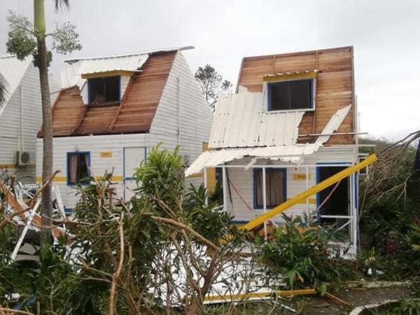 La familia Arena Noriega estaba de vacaciones en la isla de Providencia que quedó devastada luego del paso del Huracán Iota.