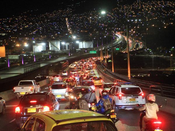 En imágenes: Toque de queda 24 diciembre en Medellín