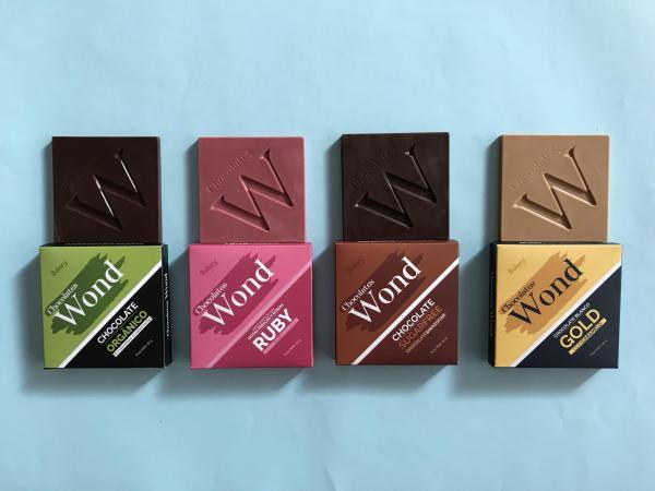 La línea de barras de chocolate Wond