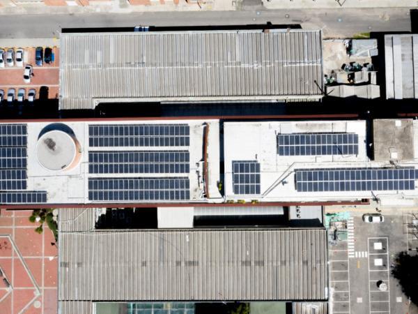 Paneles solares Ministerio de Minas