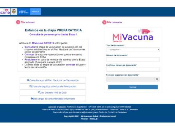 Ya se puede consultar el turno de la vacunación contra covid-19
