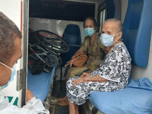 Francisca Mangonez Martínez, de 110 años de edad, 'Pachita', como todos la conocen en Sucre, Sucre, en la sub región de la Mojana,