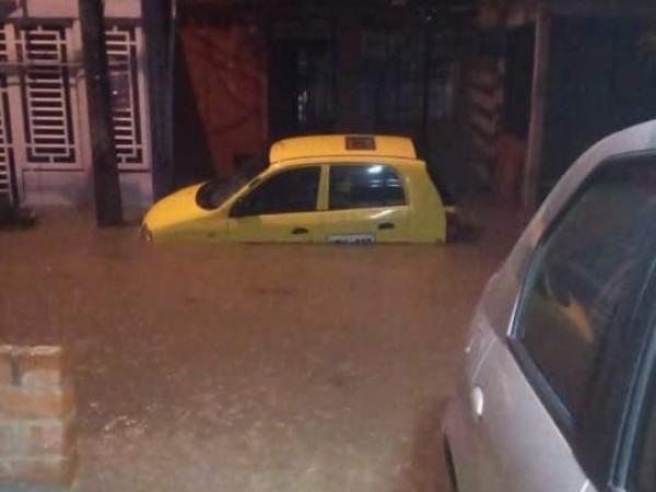 Inundaciones en vías de Cali