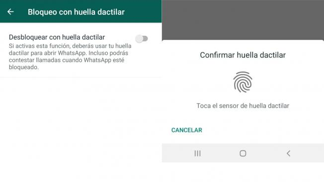 Whatsapp: Bloquea las conversaciones con la huella