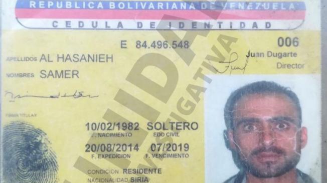 Samer Al Hasanieh, el sirio retenido.