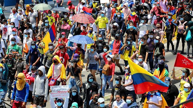 Marcha del 5 de Mayo en Barranquilla