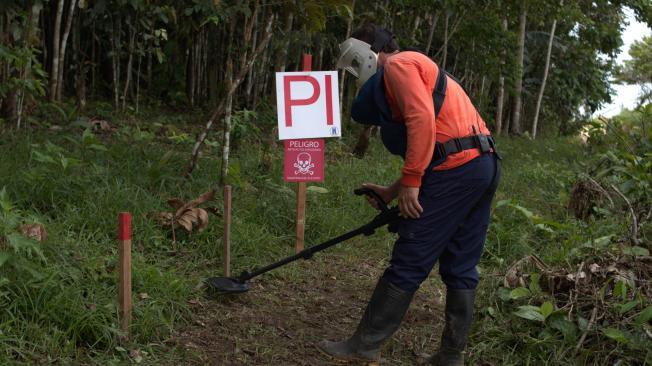 Área libre de minas en Caquetá