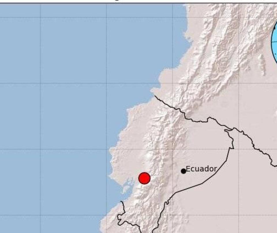 Sismo de magnitud 5,1 sacudió este domingo a Ecuador