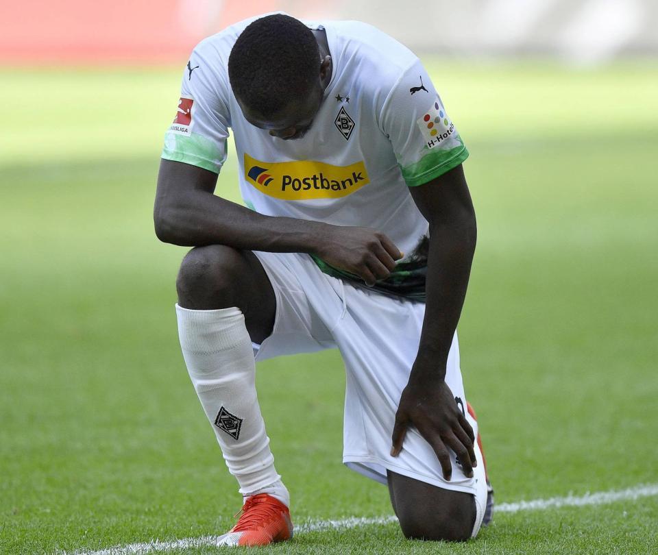 Otra protesta por la muerte de George Floyd en la Bundesliga