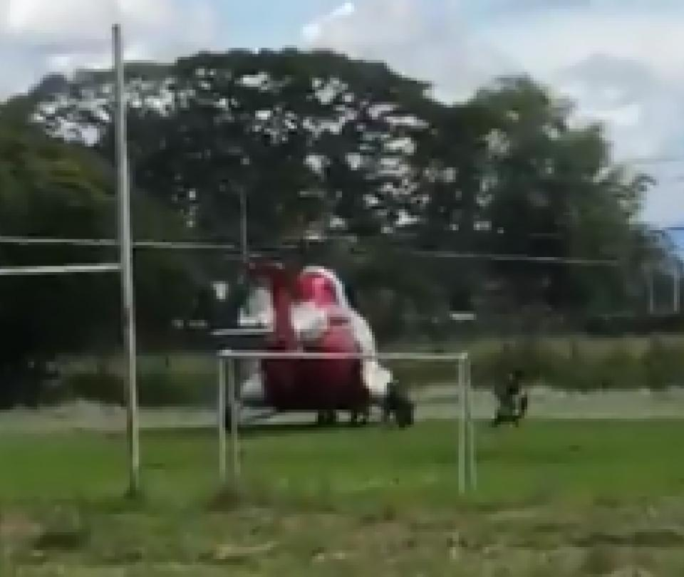 Denuncian que helicóptero dejó a militares en sede del Sena en Buga
