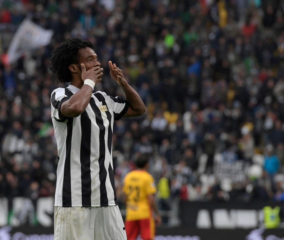 Juan Guillermo Cuadrado cumplió 100 partidos con la Juventus
