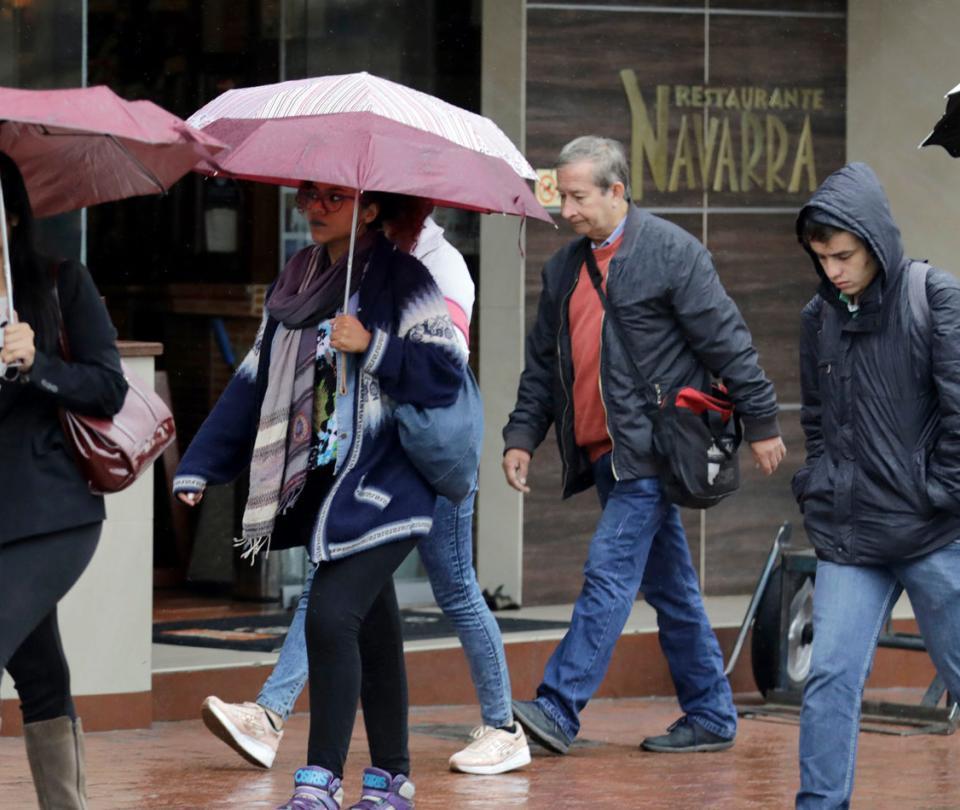 Frío en Bogotá se debe a una sensación térmica por humedad y vientos