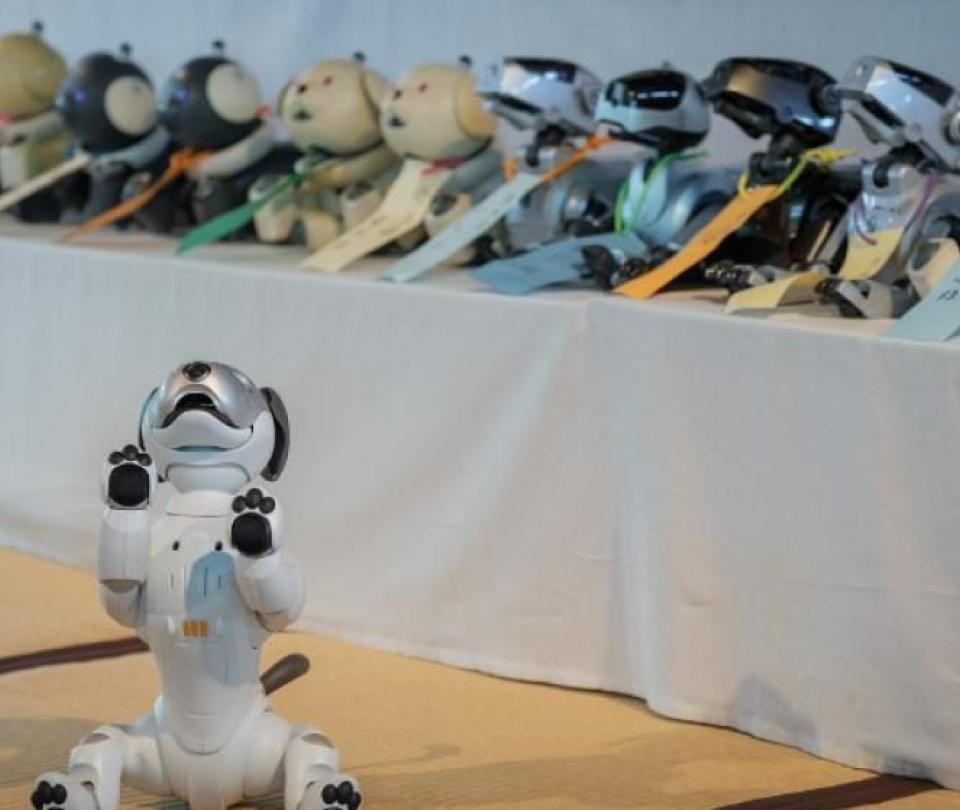 En Japón hacen funerales para perros robot