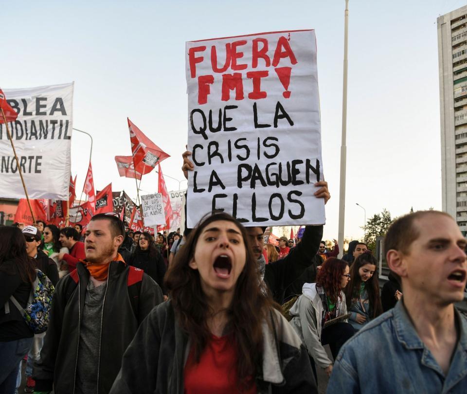 Así fueron las protestas en Argentina contra plan de ajuste económico