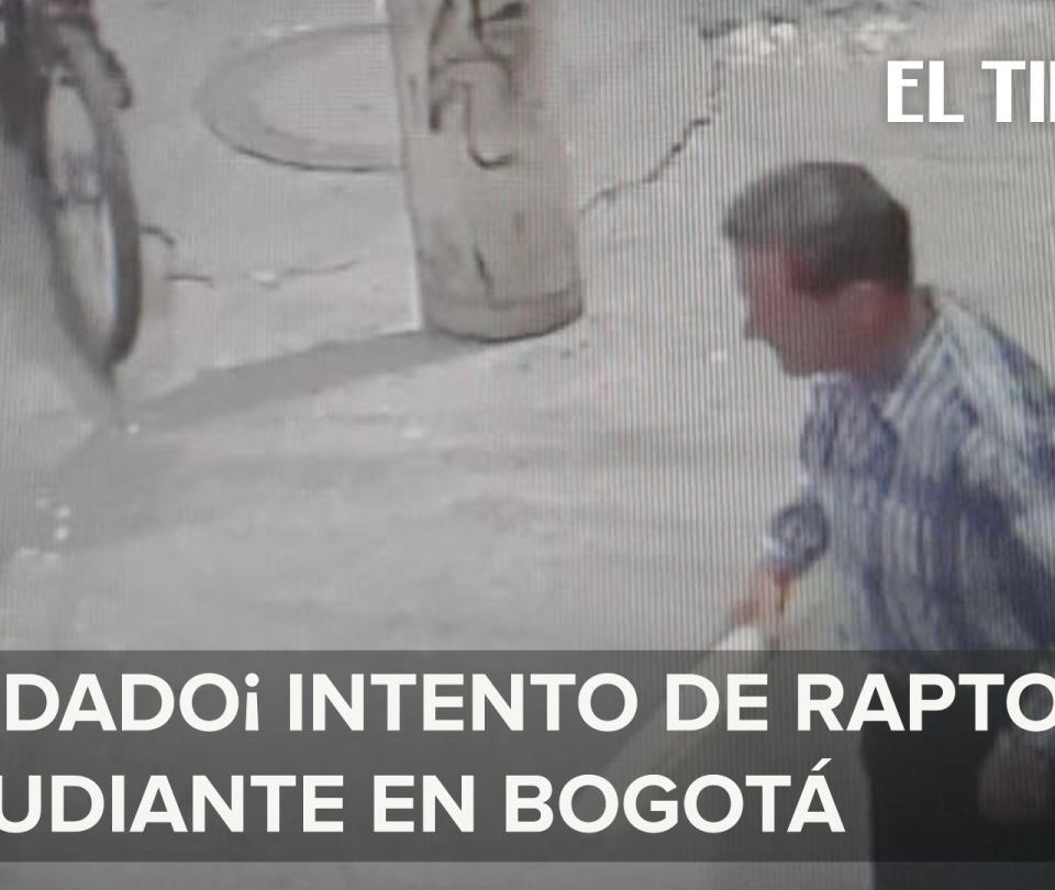En video quedó grabado un posible caso de secuestro exprés de un niño
