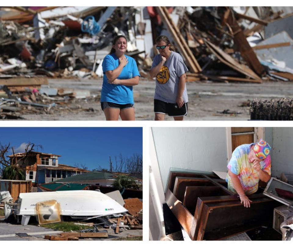 La devastación que dejó el huracán Michael en su paso por EE. UU.