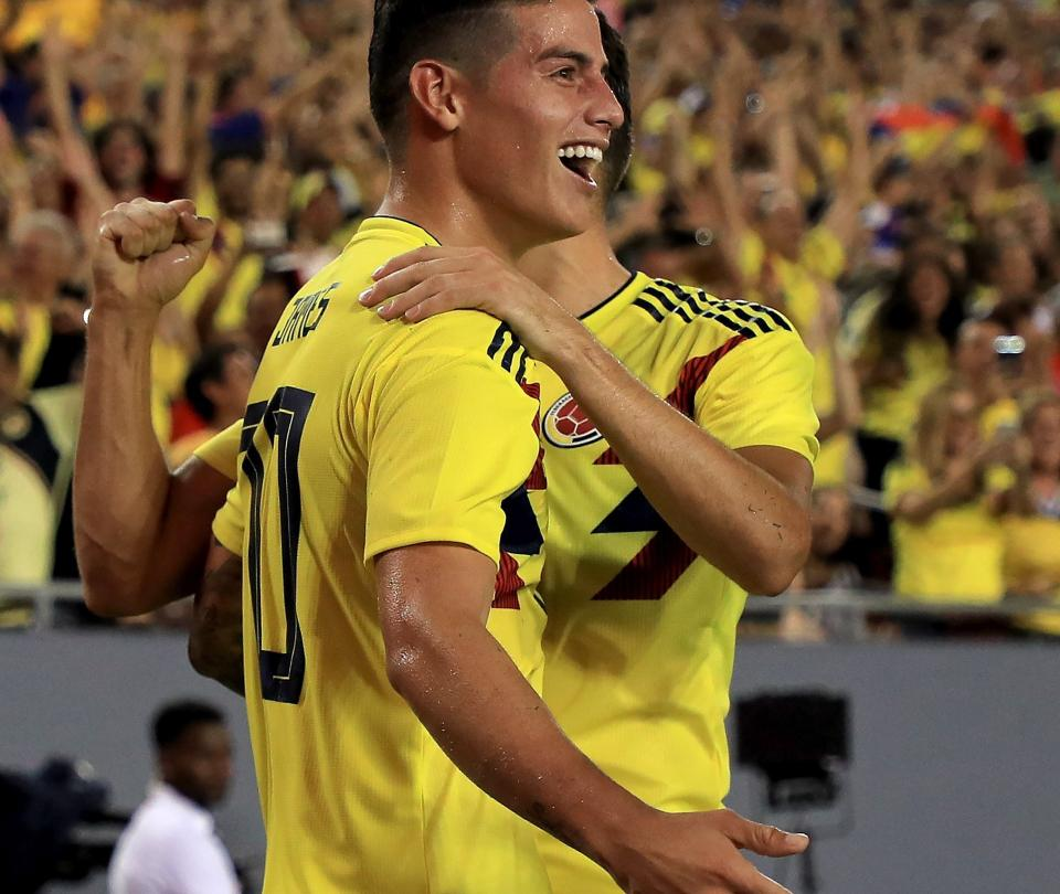 Con un gran James, Colombia derrotó 2-4 a Estados Unidos